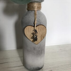 Rustic Glass Bottle Small