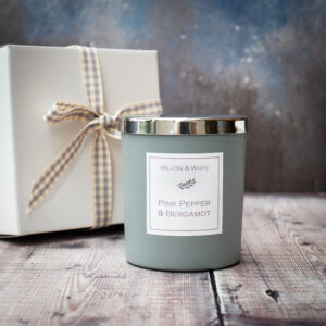 Ceramic Grey Classic Candle in Pink Pepper & Bergamot