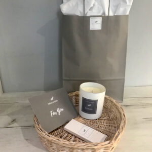 Gift Option - Willow Tray, Ceramic Candle & Luxury Matches