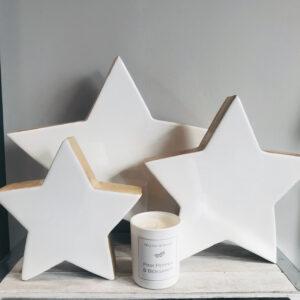 Enamel & Mango Wood Stars
